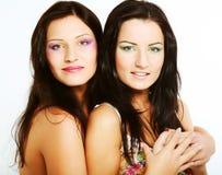 Deux amie souriant ensemble Photographie stock libre de droits