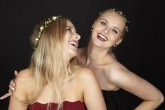 Deux amies Images libres de droits