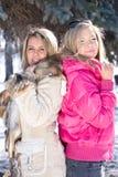 Deux amies blondes Photographie stock libre de droits