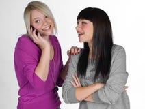 Deux amies d'adolescent Images stock