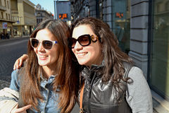 Deux amies de femme Photo libre de droits