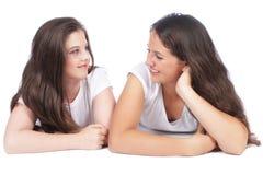 Deux amies féminines Photo stock