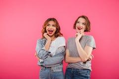 Deux amies gaies de femmes Photo libre de droits