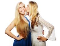 Deux amies heureuses de femmes Photographie stock libre de droits