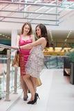 Deux amis avec des achats Image stock