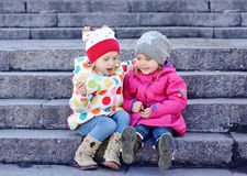Deux amis d'enfant en bas âge Photographie stock