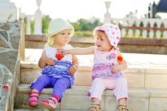 Deux amis de bébé Photo stock