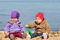 Deux amis de bébé Photo libre de droits