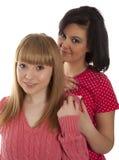 Deux amies de jeune fille Photos libres de droits