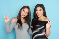 Deux amis de l'adolescence Images libres de droits
