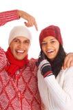 Deux amis de l'hiver Photos libres de droits