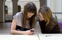 Deux amis féminins Image libre de droits