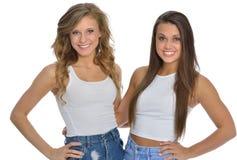 Deux amis féminins mignons Photographie stock