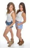 Deux amis féminins mignons Photos libres de droits