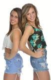 Deux amis féminins mignons Images libres de droits