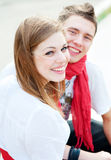 Deux amis heureux Photos libres de droits