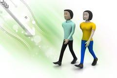 Deux amis marchent ensemble Photos stock