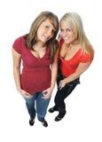 Deux amis posant ensemble Images stock
