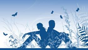 Deux amoureux illustration libre de droits