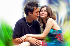 Deux amoureux de bonheur Photo libre de droits