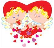 Deux anges Image stock