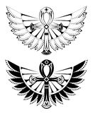 Deux ankhs avec des ailes Photographie stock
