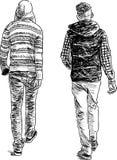 Deux années de l'adolescence Images libres de droits