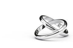 Deux anneaux de intersection Photographie stock