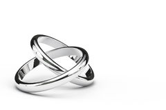 Deux anneaux de intersection Photo libre de droits