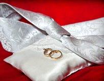 Deux anneaux de mariage Images stock