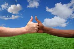 Deux appartenances ethniques convenant sur une idée Photo libre de droits