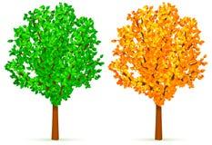 Deux arbres. Photo libre de droits