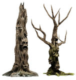 Deux arbres de monstre Images stock