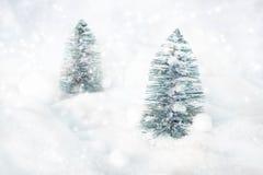 Deux arbres de Noël Photographie stock libre de droits