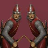 Deux archers abstraits Photo stock