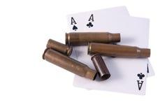 Deux as et balles de sases Photographie stock libre de droits