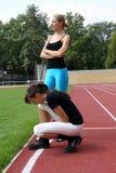 Deux athlètes féminins Photo libre de droits