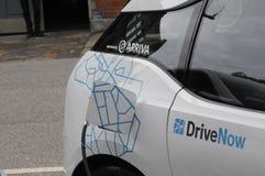 Deux automobile électrique allemande _VW et BMW Photos libres de droits