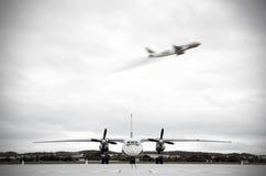 Deux avions Photographie stock