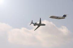 Deux avions Photographie stock libre de droits