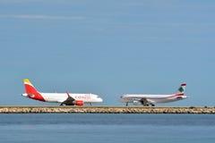 Deux avions Image libre de droits