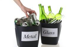 Deux bacs de recyclage Images libres de droits