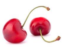 Deux baies en forme de coeur de cerise Image stock