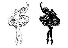 Deux ballerines Image libre de droits