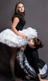 Deux ballerines dans le tutu Photo stock
