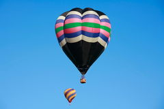 Deux ballons à air chauds Image libre de droits