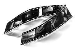 Deux bandes de film Photographie stock