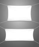Deux bannières blanches en blanc avec le copyspace Photo libre de droits