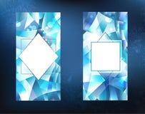 Deux bannières de glace Photographie stock