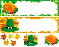 Deux bannières de Web pour le thanksgiving Photos libres de droits